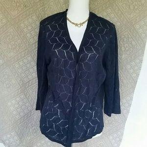 Charter Club patterned thin open cardigan sz 1X